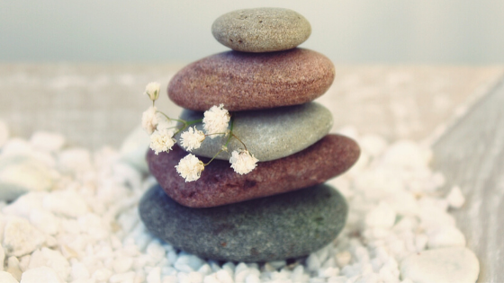 Image of stacked rocks for the relaxation dentistry page.